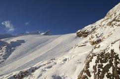 Ośrodek narciarski Francja Espace Killy Zdjęcie Stock