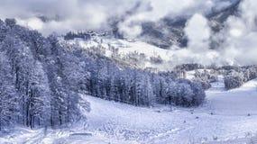 Ośrodek narciarski Krasnaya Polyana SOCHI Fotografia Stock