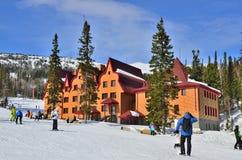 Ośrodek narciarski Sheregesh, Zielona góra, Halny Shoria, Kemerovo Obraz Stock