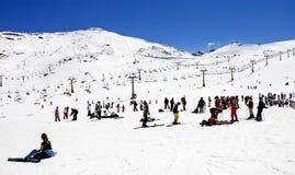 ośrodek pradollano stoki narciarskie Hiszpanii Zdjęcie Stock