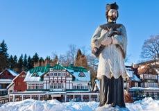 Ośrodka narciarskiego Spindleruv mlyn, Krkonose góry, republika czech (gigant) Zdjęcia Royalty Free