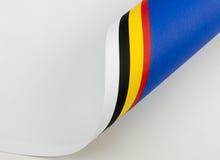O rolo de muitos coloriu o papel - fundo Fotografia de Stock