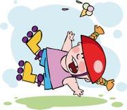 O rolo engraçado que cai para baixo Foto de Stock
