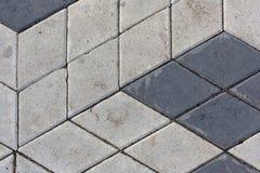 O rombo concreto telha o fundo da textura do teste padrão imagem de stock royalty free