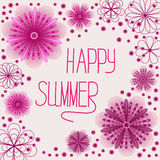 O rosa bonito floresce o cartão Imagem de Stock Royalty Free