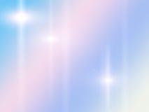 O rosa e o fundo abstrato azul com raios star Imagens de Stock