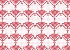 O rosa floresce o pixel Imagens de Stock