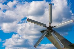 O rotor de cauda do helicóptero foto de stock royalty free
