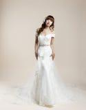 O roupa de senhora um vestido de casamento Foto de Stock Royalty Free