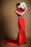 O roupa de senhora um vestido de casamento Fotos de Stock