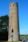 O' Rourke torn, Clonmacnoise, Irland royaltyfria foton