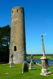O' Rourke torn, Clonmacnoise, Irland arkivfoton