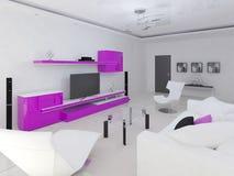 O roxo colore a sala de visitas Ilustração Royalty Free