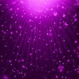 O roxo stars o fundo Fotografia de Stock Royalty Free