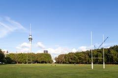 O rugby lança dentro Auckland, Nova Zelândia fotografia de stock