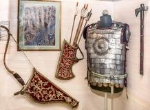 O russo arma a cavalaria local do guerreiro - o começo do século XVII Imagem de Stock