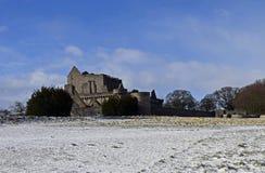 O século do castelo a14th de Craigmillar e foi usado enquanto um filme se ajustou para o Outlander e o rei foragido Fotografia de Stock