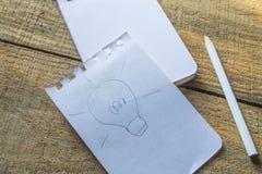 O símbolo da ideia recicla sobre o papel Fotografia de Stock