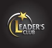 O símbolo da prata e do ouro do gráfico de vetor para líderes da empresa com estrela dá forma Fotos de Stock