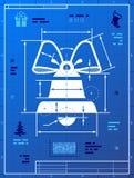 O símbolo de Bell gosta do desenho do modelo Fotos de Stock Royalty Free
