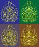 O símbolo decorativo de Ásia gosta do ornam feito a mão de paisley Imagem de Stock Royalty Free