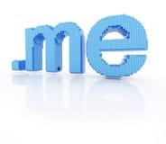 O símbolo do domínio do pixel pontilha-me Imagem de Stock Royalty Free