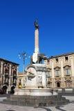 O símbolo do elefante/Catania da fonte Imagens de Stock Royalty Free
