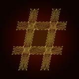 O símbolo do sharpr da linha Fotografia de Stock Royalty Free