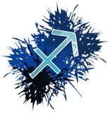 O símbolo do zodíaco do sagittarius canta feito com os pontos isolados ilustração royalty free