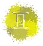 O símbolo dos gêmeos assina feito com os pontos isolados ilustração royalty free