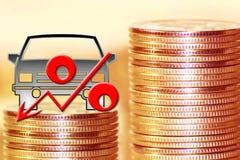 O símbolo dos por cento no fundo do dinheiro Imagem de Stock Royalty Free