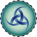 O símbolo dos Viquingues. Deus eliminado as plantas pouco vigorozas Odin Imagem de Stock