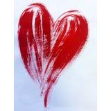 O símbolo vermelho dos litros do texto do fundo abstrato da aquarela do amor brilhante seca o papel de parede bonito da mão da de Fotografia de Stock Royalty Free