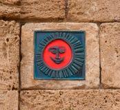 O símbolo vermelho um sorriso Fotografia de Stock