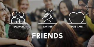 O sócio dos amigos ciao o conceito dos trabalhos de equipa Imagem de Stock Royalty Free