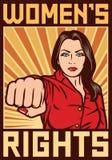O ` s das mulheres endireita o cartaz