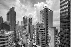 O ` s de Hong Kong dilapidou construções altas Imagem de Stock
