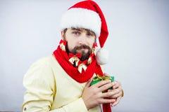 O ` s de Santa decorou a barba Fotos de Stock
