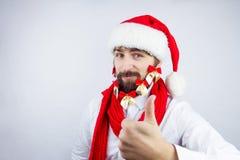 O ` s de Santa decorou a barba Fotos de Stock Royalty Free