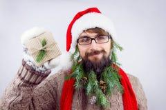 O ` s de Santa decorou a barba Imagem de Stock Royalty Free