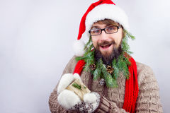 O ` s de Santa decorou a barba Fotografia de Stock Royalty Free