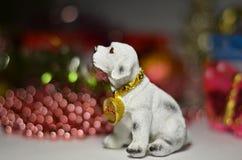O ` s do ano novo brinca o cão do símbolo Imagens de Stock