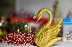 O ` s do ano novo brinca a cisne Imagem de Stock Royalty Free