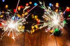 O ` s do ano novo ilumina e brinca 8 Foto de Stock Royalty Free