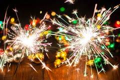 O ` s do ano novo ilumina e brinca 9 Fotos de Stock Royalty Free