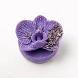 O sabão feito a mão como orquídeas floresce, aromaterapia, termas fotos de stock