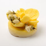 O sabão feito a mão como orquídeas floresce, aromaterapia, termas imagens de stock royalty free