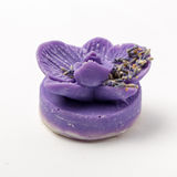 O sabão feito a mão como orquídeas floresce, aromaterapia, termas imagem de stock