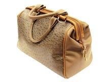 O saco de couro marrom das mulheres Foto de Stock Royalty Free