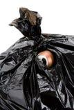 O saco de lixo e pode Fotos de Stock Royalty Free